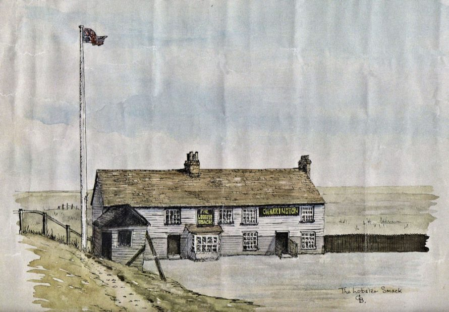Watercolour of the Lobster Smack