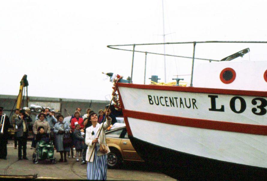 Christening the boat. | Ian Hawks.