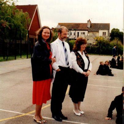 Staff spectators: Janet Walde, Bill Mulhearn, Margaret Hill and Damon Evans.   Janet Dolling