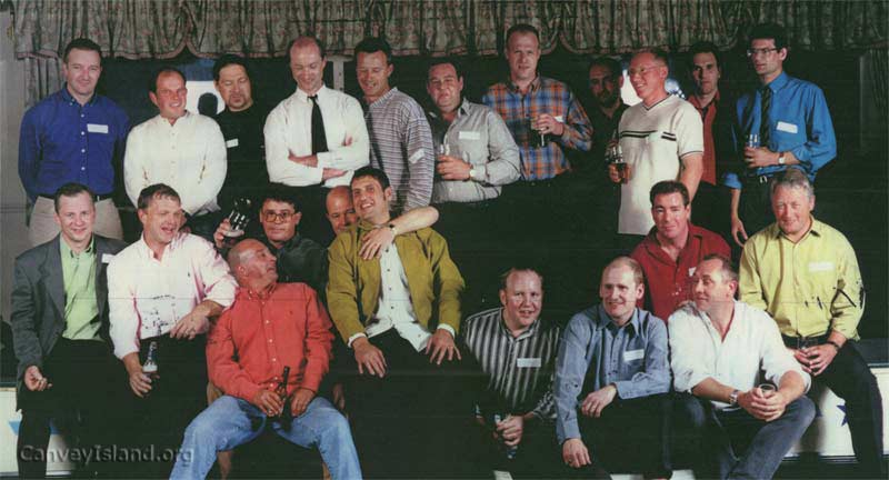 Top row; Peter Lee : Andrew Baker : ? : Dave Bullock : ? : ? : Jason Shirwin : Kevin Gardner : Andy Halls : ? : Frank Rothwell ; 2nd Row; Mark Sharman : Steven Hibbert : Ellis Curly : ? : ? : ? : Mark Hutton? ; Front Row; Brian Knight (in red) : Martin Hall (striped shirt): Mick Neal : Peter Linge | D Bullock