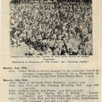 1945 Gloucester Holiday Booklet - Part 2 with Paul Capser entry | Thanks to Joan Liddiard