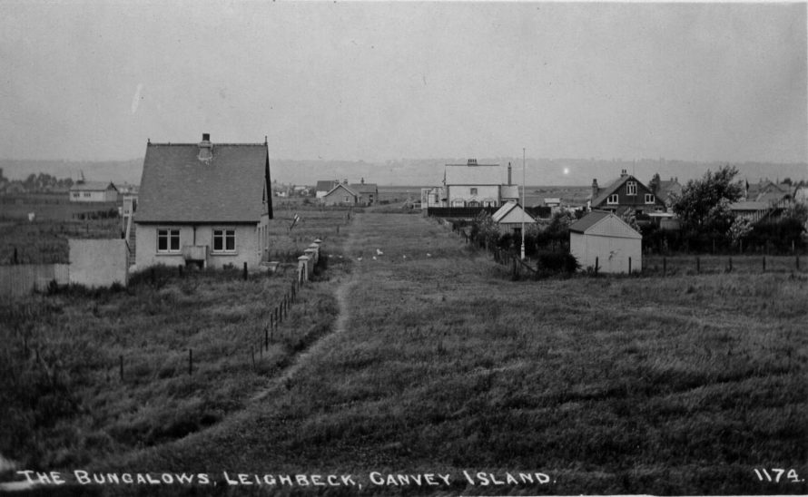 Old Postcard at Leigh Beck. St Annes in the distance on the left. c1910