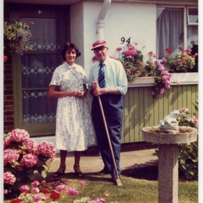 Bill and his daughter Janet in Bill's prize winning garden | Janet Dolling
