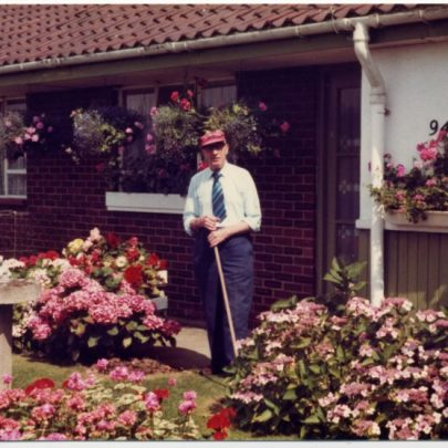 Bill at work in his garden | Janet Dolling