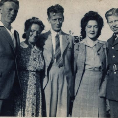 l-r John Cain, Grandparents Louise and George Cain, Ivy and George Cain, Michael and David's parents | David Cain