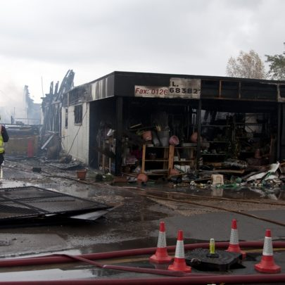 The badly damaged shop | Essex County Fire and Rescue Service