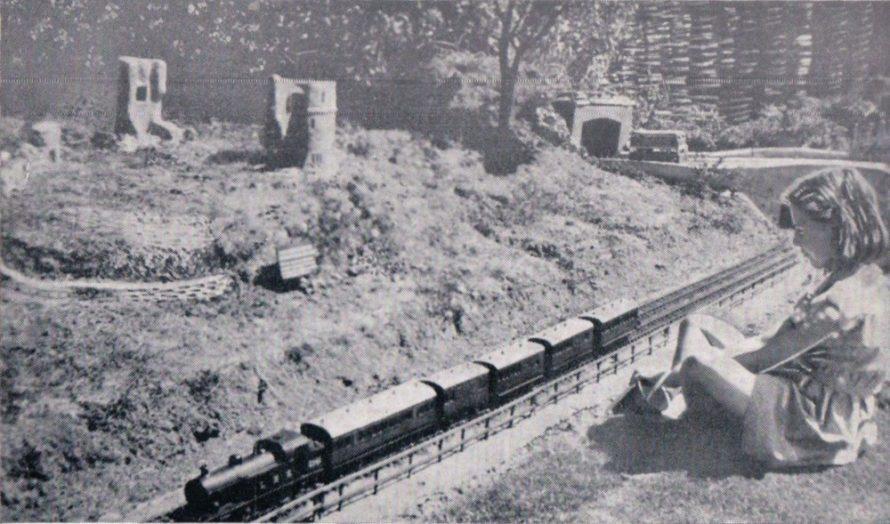 Hadleigh Castle and railway