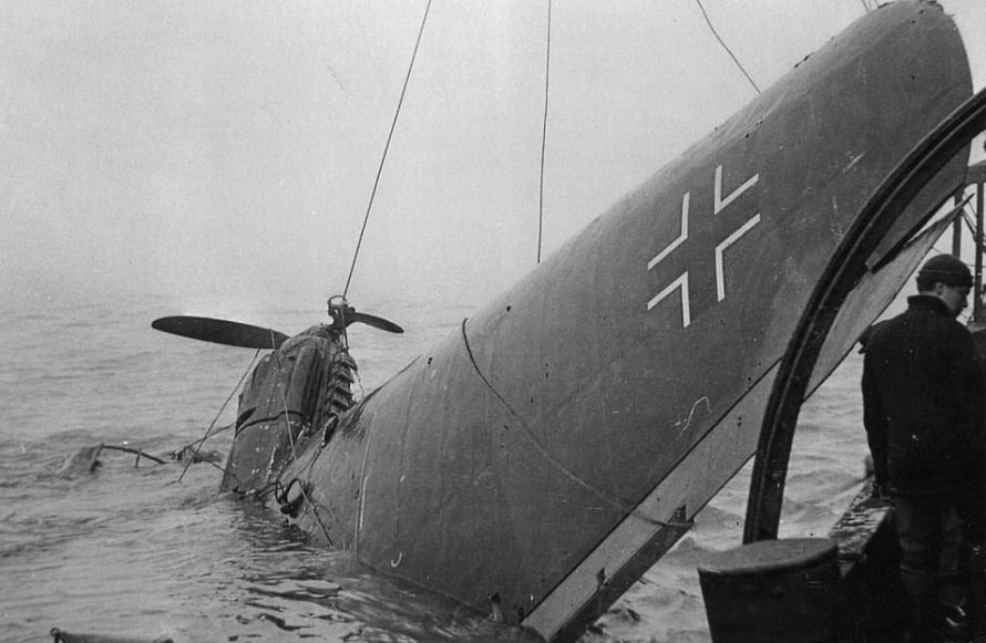 A Heinkel 111 Shot Down off Canvey