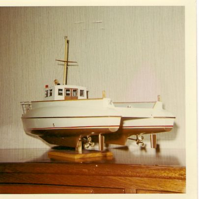 Model of UN workboat