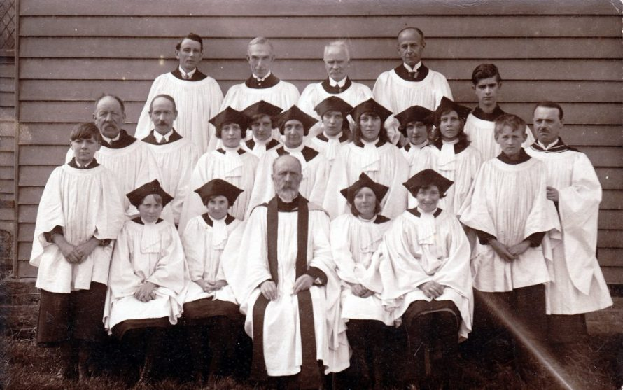 This is probably the church choir the picture must have been taken around the 1920s. The vicar is Rev Edwin Green | Lin and Michael Swanson