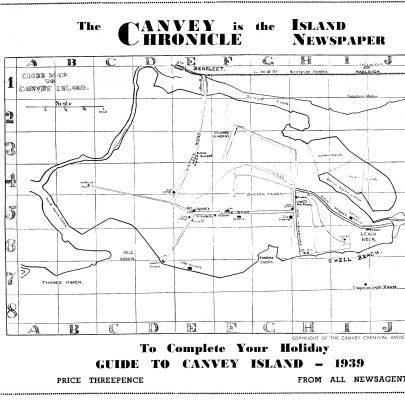 Hand drawn map of the Island copyright the Canvey Carnival Association | Please click on the map to see an enlargement