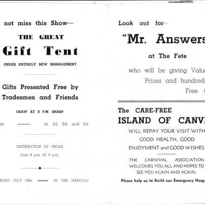 1939 Carnival Programme