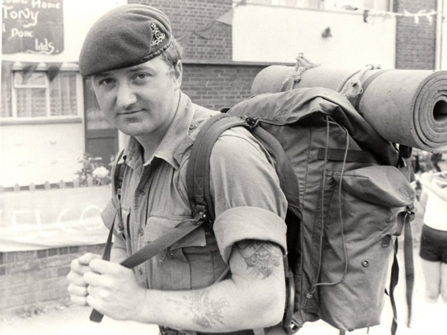 Tony Schultze Home from the Falklands