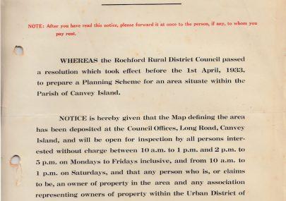 Canvey Island Town Planning Scheme