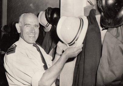 Retiring Fireman George Blackwell