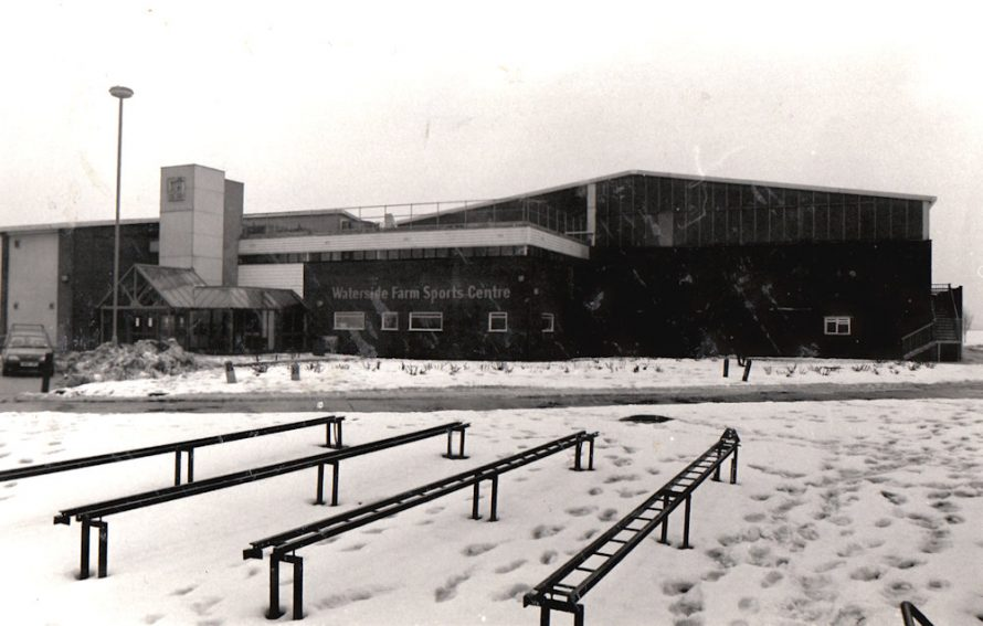 1991 in the snow with part of the minute railway in the foreground. | Echo Newspaper Archive