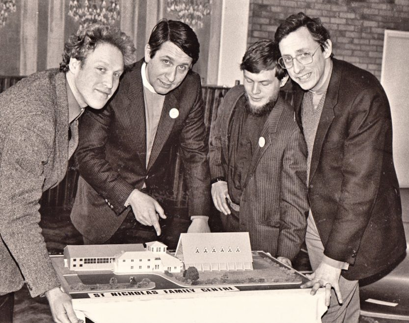 l-r Curate Andrew Chidley, Rev Tim Stevens, Rev George Catchpole and Rev Martin Webster. | Echo Newspaper Archive
