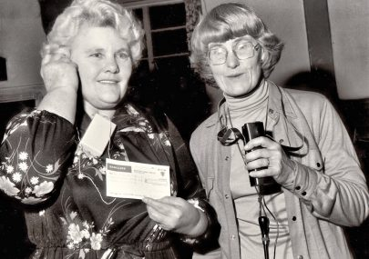 Distaff Club Cheque Presentation 1980
