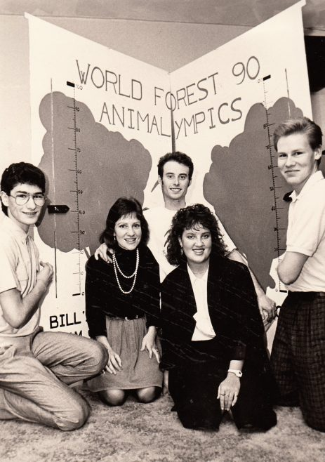 Animallympics Team and Scoreboard. l-r Christos Zambas, Carole Hedges, Steve Hedges, Marion Greaks and Howard Francis. | Echo Newspaper Archive