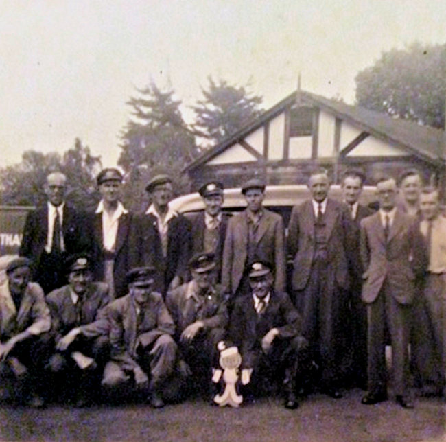 Back row L to R Hedley Clair (Mgr) Reg Smith (Gas fitter)????? Mr. Stead (mgr) C. Neumayer (Gas fitter) Roy (clerk) Front row L to R ? Dennis Butters ( Gas fitter) Wilkie (union steward) Vic Hills (apprenticed fitter) ?. Many good memories of those times. | Gerald Hudson