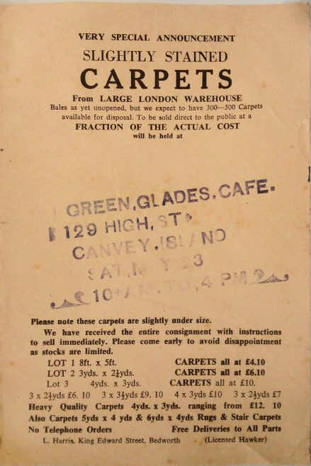 Roll Up, Roll Up Carpet Sale
