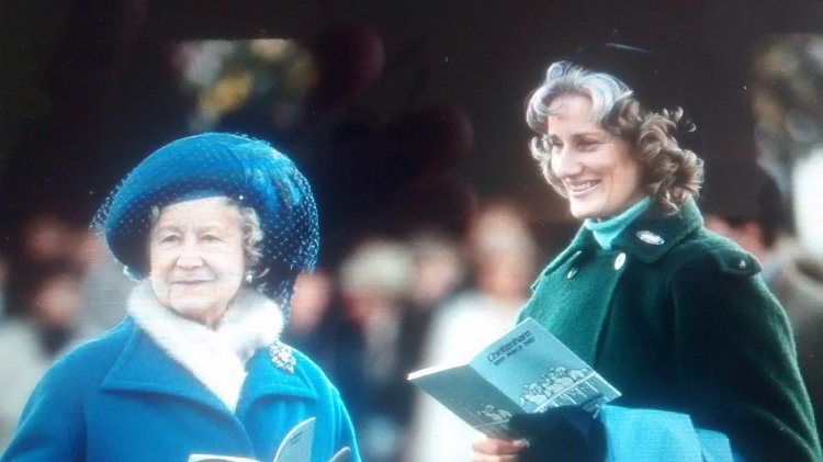 Queen Elizabeth the Queen Mother and Angela Oswald