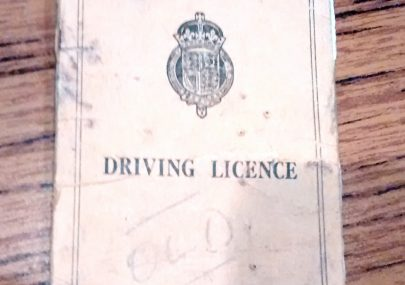 Col. Fielder's Driving Licence