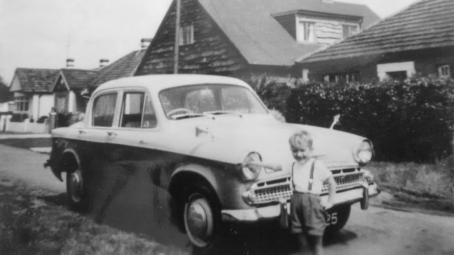 Gary with his dad's car outside home | Gary Foulger