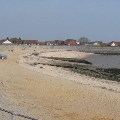 Thorney Bay beach.