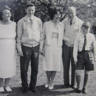 Me, my nan, mum and dad, and brother Steve in the garden in 1962 just before we left the island. | Chris Willis