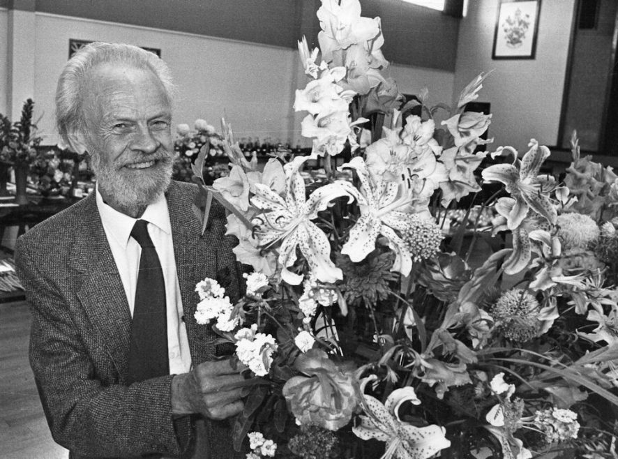 Castle Point Flower show at the Paddocks. Best Exhibit in the show Ken Dorling. 1991 | Echo Newspaper Group