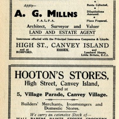 Adverts from 1933