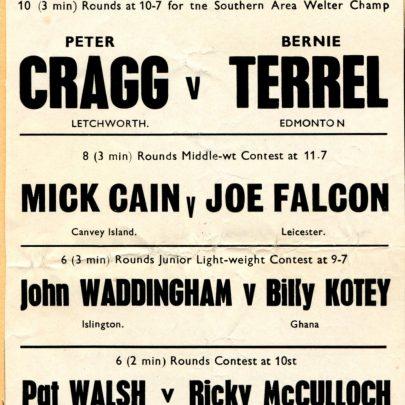 4 November 1969   Mick Cain