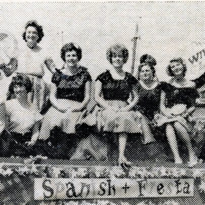 A 'Spanish Fiesta' staged by Canvey Methodist Wives Club when their float took part in the Carnival. The Club came fourth in the competition for the best local float.