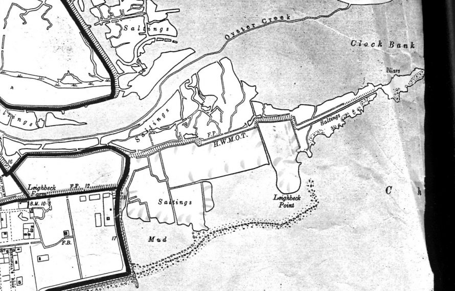 Map of the same area dated 1898 around the time Hester might have been buying this area of Leigh Beck Farm.