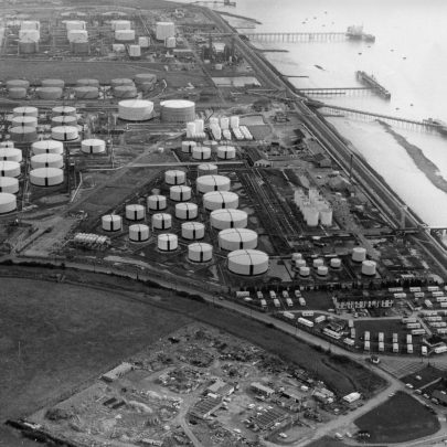 Texaco 1981 Coastguard cottages and Lobster Smack  bottom right | Echo Newspaper Archive
