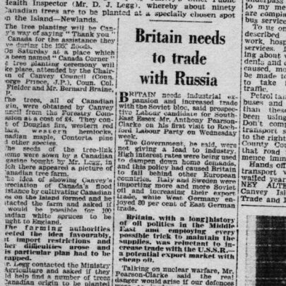 Southend Standard 29 March 1962