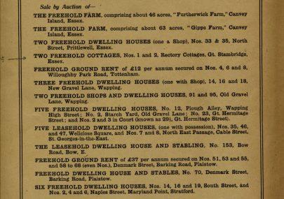 Sale Catalogue 1921
