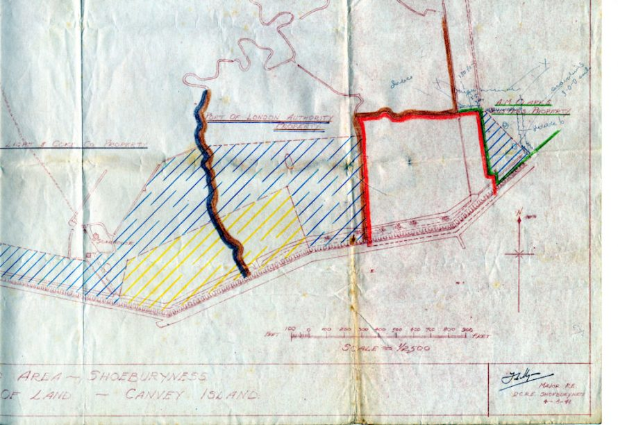 Portion of the War Department Requisition map dated 1941