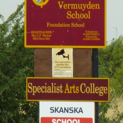 The School sign   Janet Penn