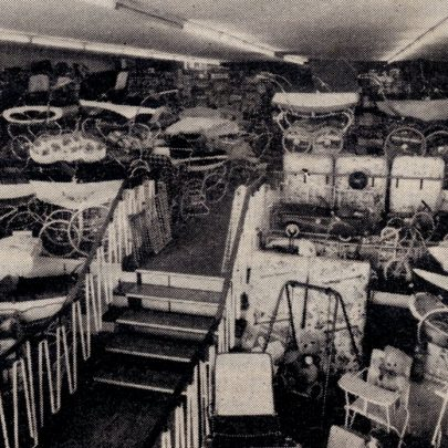 The Pram Department on the first floor
