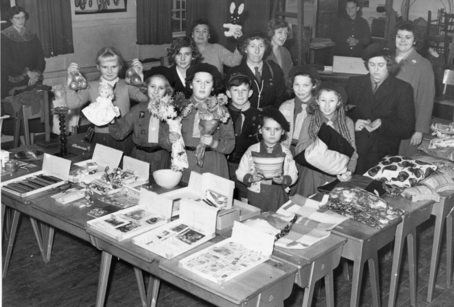 Canvey Brownies and Cubs in St Anne's 1959 with Phyllis Owens in the middle behind the children | Phyllis Owens