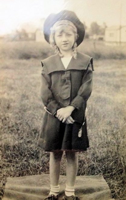 Fay Jon Manly's sister born 1925 in her guides or G L B uniform | Jane Parkin