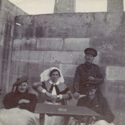 Sister Saxton with officers of Hamrum Hospital Malta.