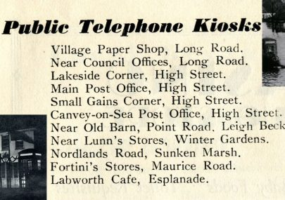 Public Telephone boxes in 1949