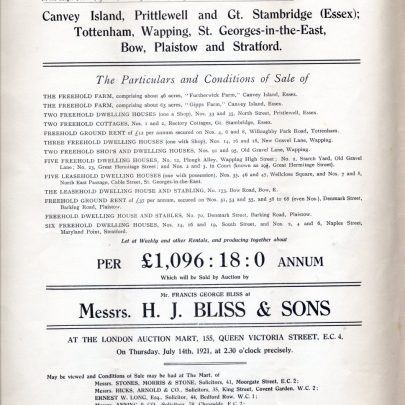 Sale Catalogue 1921