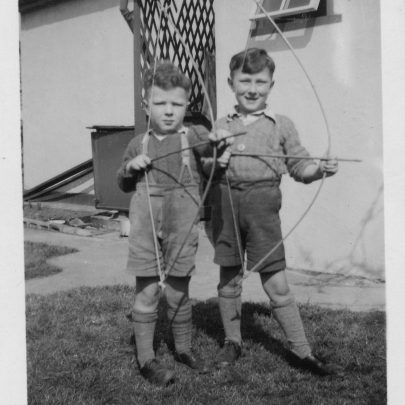Bob and Tom enjoying their holidays at their grandparents bungalow | Marjorie Parks