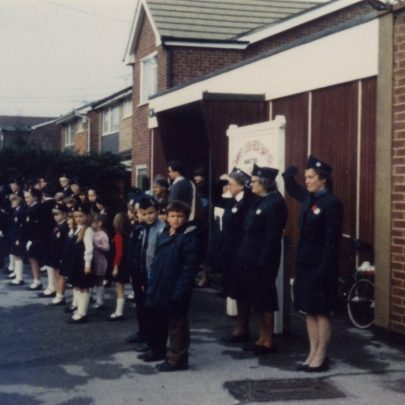 Church Parade. The Officers at the back are Doris Flaherty, Florrie Bennett and Mary Storey. c1998   D Flaherty