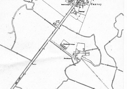 Map showing Brickhouse Farm
