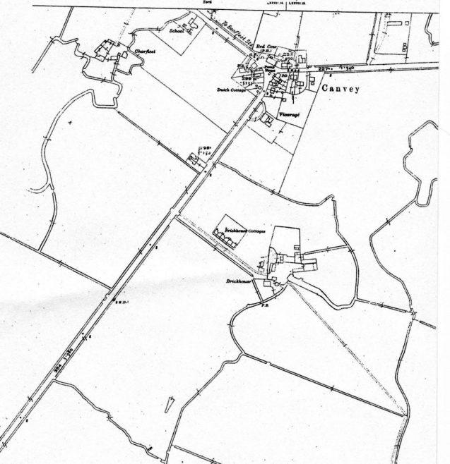 Map showing Brickhouse Farm